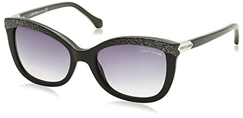 Roberto Cavalli Damen Sonnenbrille RC788S, , Gr. One size, Grau (Shiny Black with Glitter)