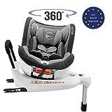 Kinderautositz Drehbar 0-18kg, 360°, Isofix, Gruppe 0+/1, ECE R44/4 Norm (Maximale Sicherheit für Ihr Kind) - Reboarder 0+ 1, Drehbar und neigbar mit Sitzerhöhung - Autositz für Babys...