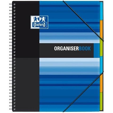 Oxford Organiserbook - Bloc de notas perforados (160 hojas, separadores de índice), colores surtidos