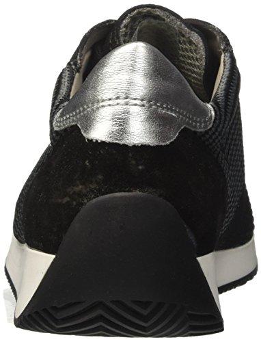 ara Damen Lissabon Sneaker Schwarz (Schwarz-Grau, Schwarz/Silber 07)