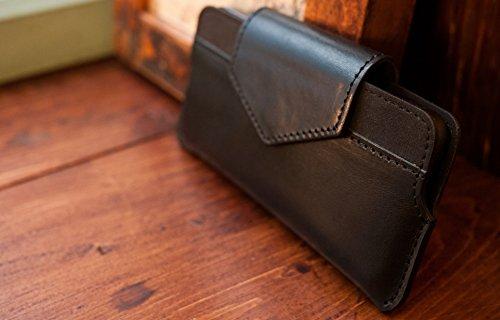 Alto Alto Handmade Premium italienischem Leder Wallet Case für Apple iPhone 5/5S & iPhone SE Serata schwarz