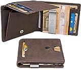 TRAVANDO porte-monnaie hommes avec pince à billets Le Caire Porte-monnaie étroit porte-monnaie porte-monnaie monaise porte-monnaie hommes porte-monnaie petit porte-monnaie RFID protection porte-cartes