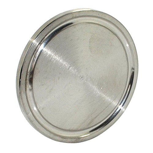 """Stainless Steel 38MM 1.5"""" OD Sanitary End Cap Fits 1.5"""" Tri Clamp Ferrule Flange OD 50.5MM SUS SS316 New Test"""
