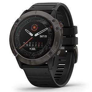 Garmin Fenix 6X Pro Solar Power Glass Titanium – GPS Multisportuhr – schwarz