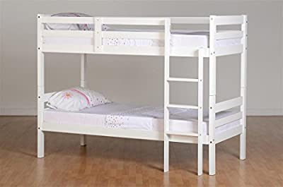Panama 3'' Single Bunk Bed in White - low-cost UK Bunkbed store.