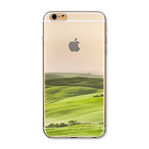 Coque iPhone 5 5s Housse étui-Case Transparent Liquid Crystal en TPU Silicone Clair,Protection Ultra Mince Premium,Coque Prime pour iPhone 5 5s-Paysage-style 5 14