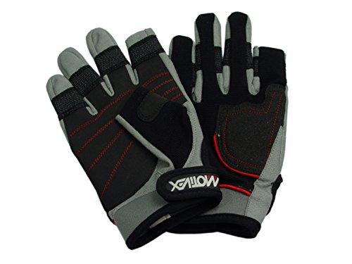 MOTIVEX Segelhandschuhe Rückseite Elasthan, beschichtete Handflächen, 2 Finger geschnitten, Kevlar verstärkte Finger, Größe XL