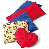 SISSEL Cherry Kirschkern Säckchen, Herzform 21x21cm, rot, Wärmflaschen, Getreide- und Kirschkernkissen preisvergleich bei billige-tabletten.eu