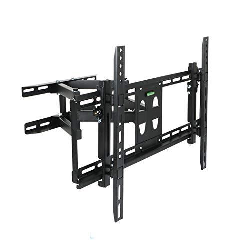 UNHO Soporte inclinable y giratorio de pared para TV de 23-70 pulgadas de Pantalla Curvada y Plana con doble brazo Movimiento completo Carga Máx 50kg VESA 600x400 Color Negro