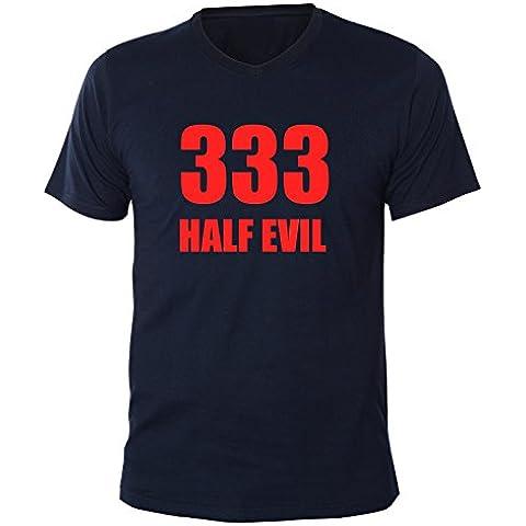 Mister Merchandise Men Hombre V-Cuello T-Shirt 333 Half Evil 666 Devil V-Neck