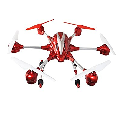 Super Big Hexacopter 5.8G Flip 4 Channels 6 Axis with Headless Mode and RTH,Hold Position, 5MP HD Camera Gyro RC Helicopter Drone with FPV RC Quadcopter + Transmitter Speed Control