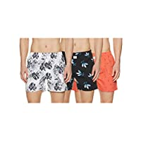 Longies Men's Printed Boxers (Pack of 3) (LGBOXPO3164_ Multicoloured_ X-Large)