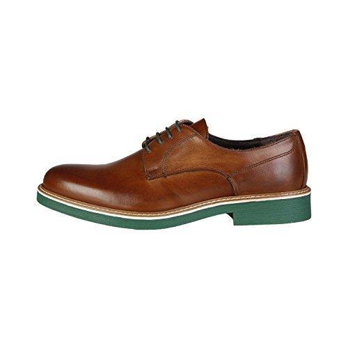 Made In Italia - EMILIO Derby Chaussures De Ville À Lacets Homme 100% CUIR VÉRITABLE