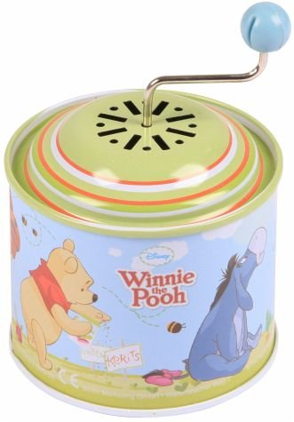 """Bolz 52753 - Musikdrehdose Disney's Winnie the Pooh, Blechdrehdose mit Melodie """"Der Frühling"""", Drehdose aus Metall, Drehorgel für Kinder ab 1 Jahr, Orgel für Kleinkinder mit Disney Motiv"""