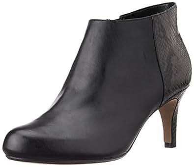 Clarks Women's Arista Flirt Black Combi Leather Boots - 3.5 UK