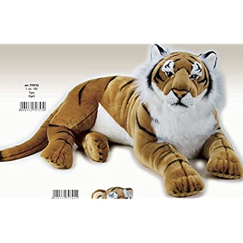 Lelly 100cm National Geographic Big Cats Tigre Gigante de Peluche (Brown)