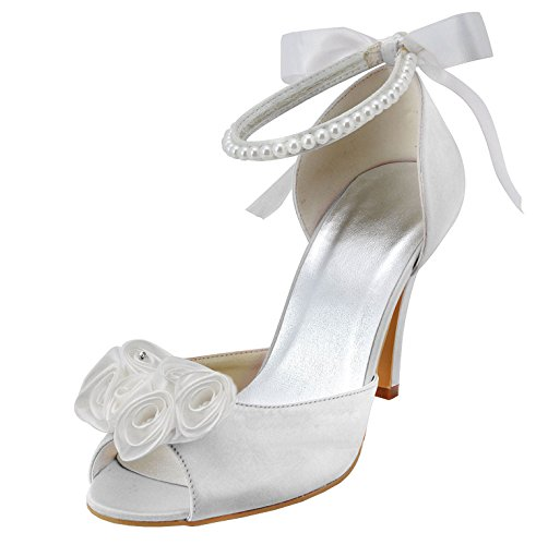 Minitoo , Chaussures de mariage tendance femme White-9cm Heel