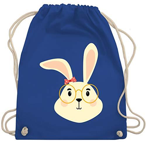 Tiermotive Kind - Süßer Hase mit Brille und Band - Unisize - Royalblau - WM110 - Turnbeutel & Gym Bag