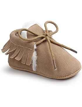 Auxma Moda Bebé niña cuna borlas vendaje suave único Casual zapatos niño Zapatillas