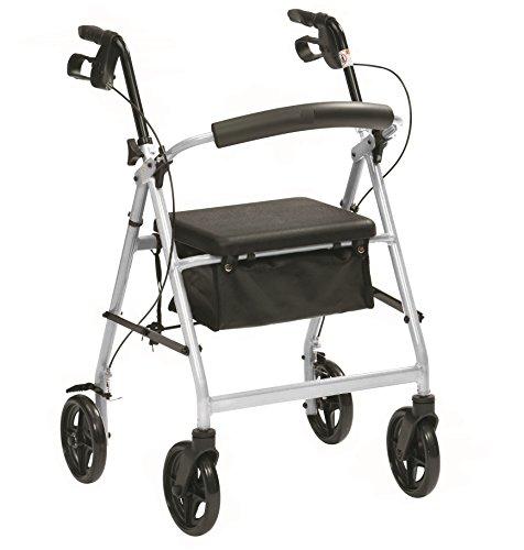 Plegado Ligera andador con ruedas con frenos