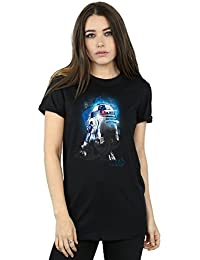 Star Wars Damen The Last Jedi R2-D2 Brushed Boyfriend Fit T-Shirt