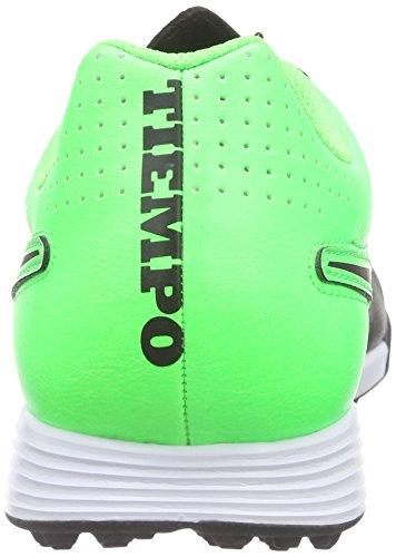 NikeTiempo Genio Leather TF - Calcio scarpe da allenamento Uomo Nero (Schwarz (Black/Black-Grn Strk-Grn Strk))