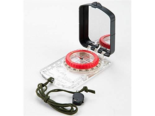 Plsonk Explorer Compass, Outils de Navigation extérieurs Multifonctions avec Boussole Explore Light avec règle (Couleur Transparente) Outil de Navigation