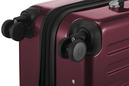 HAUPTSTADTKOFFER - Alex - NEU 4 Doppel-Rollen Großer Hartschalen-Koffer Koffer Trolley Rollkoffer Reisekoffer, TSA, 75 cm, 119 Liter, Burgund - 6
