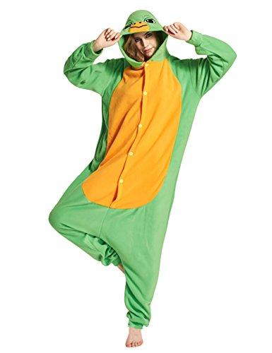 Mena Uk Damen Fleece Kapuzen Meer Schildkröte Stil Pyjama Set Nachtwäsche Kostüme Halloween ( Farbe : Grün , größe : L (Tier Kostüme Meer)