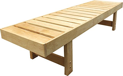 Well Solutions Luxus Sauna Ruhebank Saunaliege Holzbank 181cm lang aus Espe aus dem Hause Well Solutions