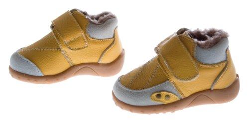 Leder Schuhe Kinder gefüttert Baby Schuhe Blau Braun Gelb Weiss Halb Schuh Mädchen o Jungen Gelb Weiss