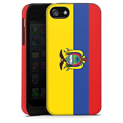 Apple iPhone X Silikon Hülle Case Schutzhülle Ecuador Flagge Fußball Tough Case matt
