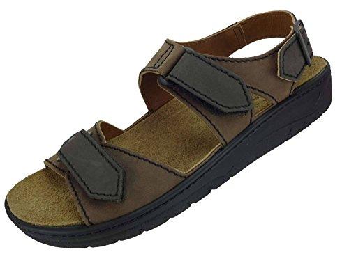 Preisvergleich Produktbild Algemare Herren Sandalette 'Sansibar' Nubukleder Algen-Kork Wechselfußbett 7765_3261 Trekking Sandale,  Größe:45