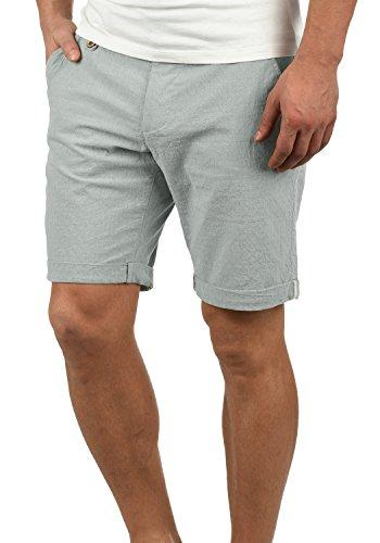 Blend Sergio Herren Chino Shorts Bermuda Kurze Hose Mit Rauten-Muster Aus 100% Baumwolle Regular Fit, Größe:L, Farbe:Dusty Blue (74649)