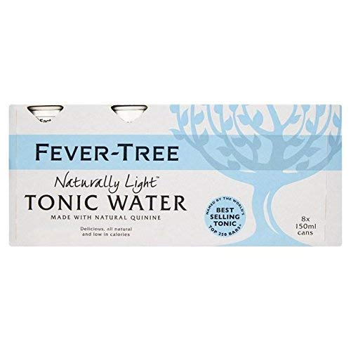 Fever Tree Naturally Light Tonic Water Can 8x150ml