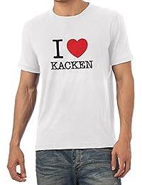 TEXLAB - I Love kacken - Herren T-Shirt