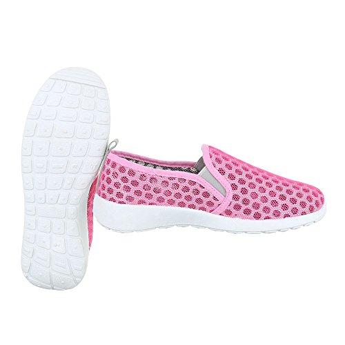 Ital-Design - Pantofole Donna Pink Grau