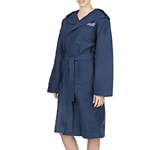 Arena Zeal, Unisex Bathrobe - Adult, Multicolored (Navy / White), S
