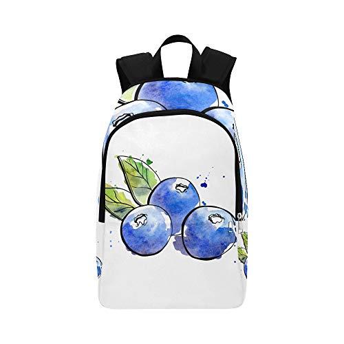 Blueberry Antioxidans (Schöner natürlicher frischer Blaubeer-beiläufiger Daypack-Reisetasche College School-Rucksack für Männer und Frauen)