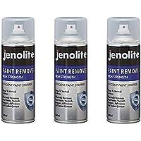 3 x JENOLITE Spray para eliminar pintura, transparente - Para Usar En Ladrillo, Metal, Madera, Concreto - Adhesivos, Lacas, Barnices - 400ml