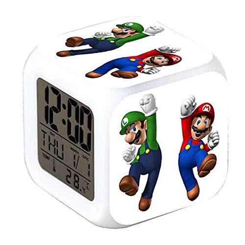 R-timer New Super Mario Anime Clock Alarm-LED-Licht Nachtlicht Zubehör für Teenager (A) - Ihome-radiowecker