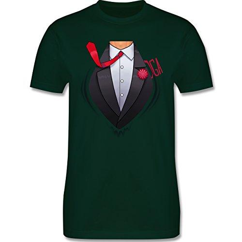 JGA Junggesellenabschied - Super Bräutigam - Herren Premium T-Shirt Dunkelgrün
