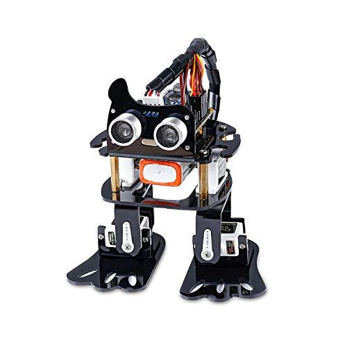 SUNFOUNDER Roboter Kit für Arduino, 4-DOF Sloth Programmierbare DIY Roboterbaukasten für Kinder und Erwachsene mit Tutorial