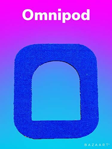 FixTape atmungsaktives Fixier-Tape für OmniPod I selbstklebendes Patch mit Loch für schlauchlose Insulin-Pumpe I besonders hautfreundlich und wasserfest in modernen Designs I 7 Stück (Blau)