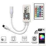 Mini RGB Led Streifen Kontroller mit Alexa,Wifi/App gesteuert,Fernbedienung Arbeiten Controller mit...