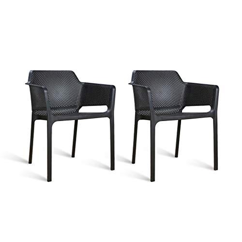 CJX-Step Stools Kunststoff-Stapelhocker, dauerhaft leicht zu reinigen stapelbarer Stuhl Sessel Hotel Hocker Konferenzstuhl stapelbarer seitlicher Plastikstuhl (Farbe : Schwarz)