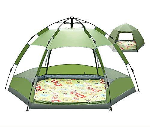 TFGY Zelt, 3-5 Personen Campingzelt - Automatische Schnellöffnung - Außensechskantzelt - Campingausrüstung