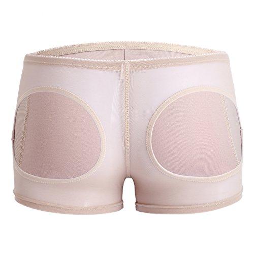 Womens Boyshort Panty Nahtlose kurze Schlüpfer Butt Lifter Control Unterhose Beige