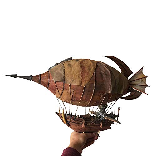 Warcraft Goblin Airship Model Wooden Kit Assembled DIY Handmade Puzzle Collection Home Decoration (Hand Puzzles Made)