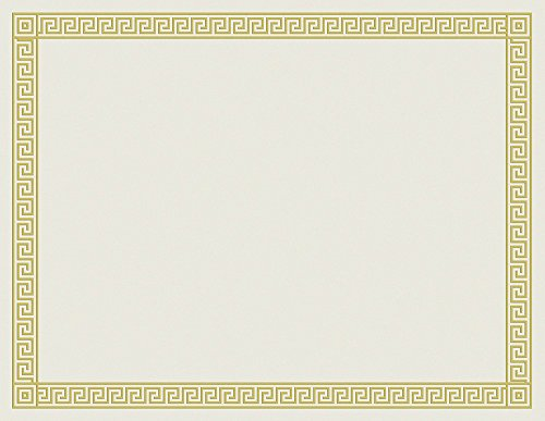 Tolles Papier. Kanal Bordüre Folie Zertifikat, 12Zählen, 21,6x 27,9cm (963070) -